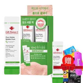 【买一盒配一条】韩国cell fusionc秀肤生 红泥呼吸清洁泡泡面膜Cellfusionc 一盒12片