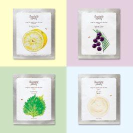现货 日本本土VECUA HONEY水果酸奶柚子紫苏植物亮白保湿面膜单片