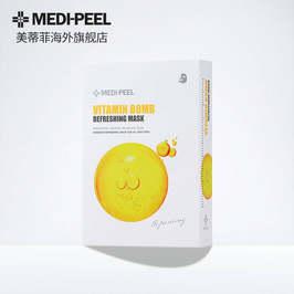 韩国进口 美蒂菲(MEDI-PEEL) 维他霜焕颜面膜提亮活力补水修复保湿 10片/盒